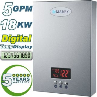 Instant on Demand Hot Water Heater 5 GPM Whole House Marey New