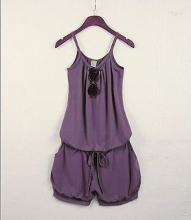 Hot Damen Sommer Jumpsuit Kurz Overall Hose Hotpants