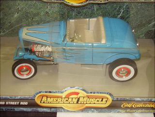 Ertl Am American Muscle 1932 Ford Highboy Street Hot Rod Blue
