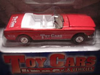 HOTWHEELS LIMITED EDITION 65 MUSTANG CONVERTIBLE TOY CARS MAGAZINE RED