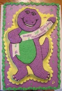 WILTON 1996 Cake Jello Mold Form Pan Your favorite Purple Dinosaur