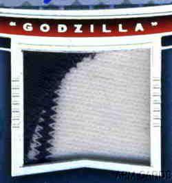 Hideki Matsui 2004 UD SP Game Used Yankees MVP Godzilla Logo Patch
