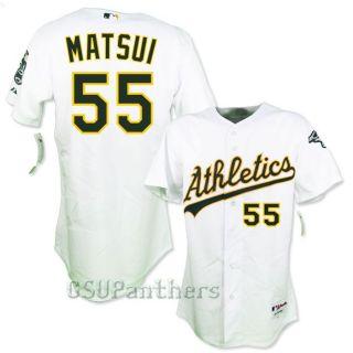 Hideki Matsui Oakland Athletics Authentic on Field Home Jersey Sz 44
