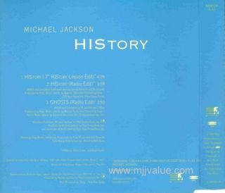 Michael Jackson Extremely RARE History Ghosts Promo Sampcm 4340