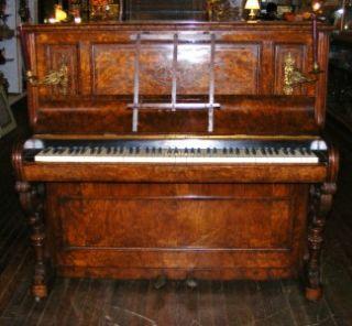 RARE Antique J J Hopkinson London Candle Lit Sconces Lighted Upright