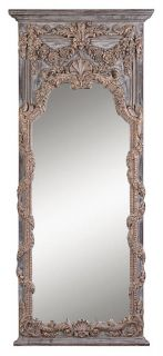 Antique Gold Horchow Adalina Floor Dinning Wall Mirror