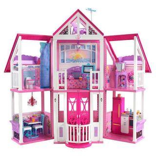 Barbie Malibu Dream Doll House 3 Story with Furniture New