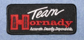 Team Hornady Firearms Embroidered Black Patch Ammo Postol