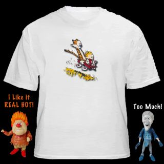 Calvin and Hobbes Little Red Wagon Ride New T Shirt Pro