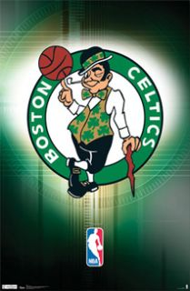 BOSTON CELTICS NBA Basketball Official Team Logo Poster (Smilin