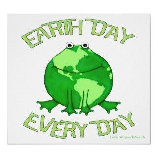 Earth Day Environmental Frog Posters