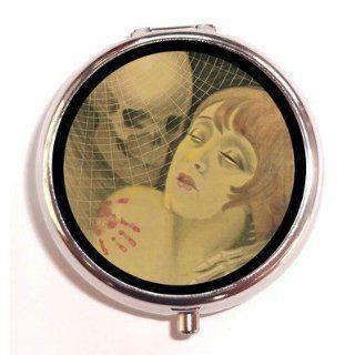 Goth Horror Art Nouveau Art Deco Skeleton Kiss Flapper