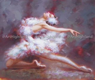 Oil Paintings Canvas Art Dancing Ballet Girl Swan Lake