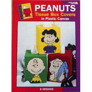 Peanuts Tissue Box Covers in Plastic Canvas, 8 Designs (Leisure Arts