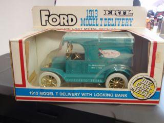 1988 BANK 1913 MODEL T FORD TRUCK BANK DIE CAST HEILIG MEYERS REPLICA