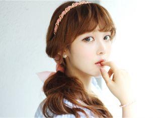 New Hot Korean Fashion Girls Women Handmade Chiffon Headband Hair Made