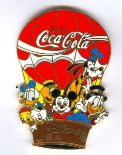 COLA MICKEY & FRIENDS HOT AIR BALLOON ( SCROOGE MCDUCK ) PIN # 4931