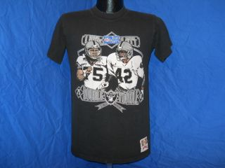 Vintage Los Angeles Raiders La Howie Long Ronnie Lott Black T Shirt