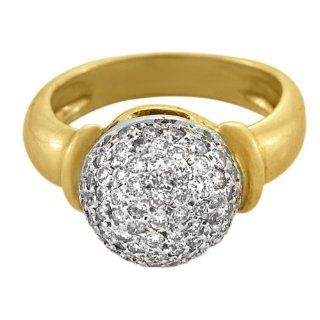 Gregg Ruth 18kt Yellow Gold Diamond Dome Ring (.55 ct. tw.) Jewelry