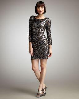 Mandalay Sequined Long Sleeve Dress