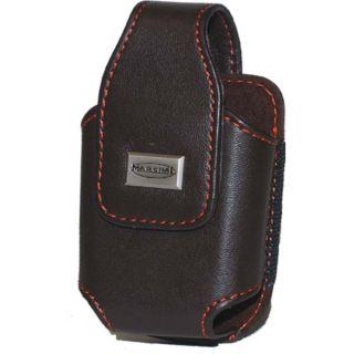 Magnetic Enclosure Belt Clip Leather Cell Phone Holder Brown #843310