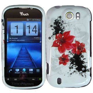 Red Lily Hard Case Cover for HTC Mytouch Slide 4G Cell