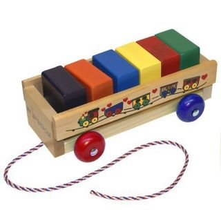 Holgate Toysmy 1st Block Wagon Wooden Toy