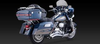 Vance Hines Exhaust Big Radius 2 Into 2 Chrome Harley Touring 2010