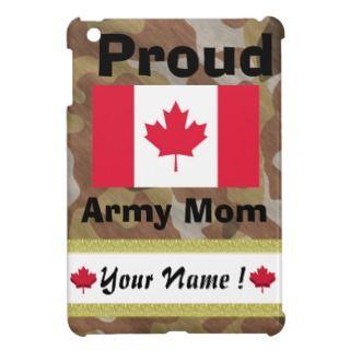 Brown Camouflage Proud Candian Army Mom ipad mini iPad Mini Case