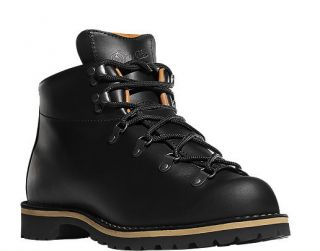 Danner Mountain Trail Holladay Black Smooth Leather Hiking Boot 12700