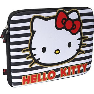 an image to enlarge loungefly hello kitty stripes bows laptop case