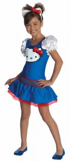 Girls Hello Kitty Blue Dress Halloween Costume Child Size Large 12 14