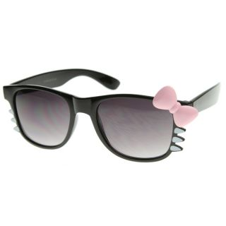 Limited Cutie Costume Girls Womens Hello Kitty Sunglasses w/ Bow