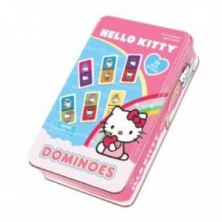 Hello Kitty Dominoes Game in Tin FREE EXPEDITED SHIPPING 4647 Pressman