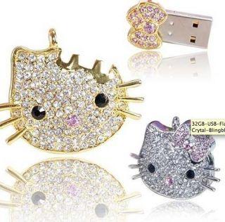 8GB Hello Kitty USB Flash Drive Gold