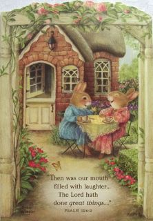 Holly Pond Hill Rabbit Garden Tea Encouragement Card