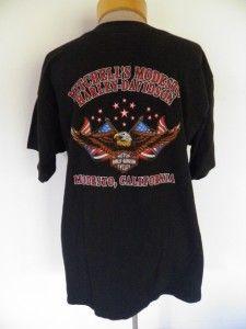 80s 90s blk HARLEY DAVIDSON biker HOLOUBEK 3D EMBLEM motorcycle shirt