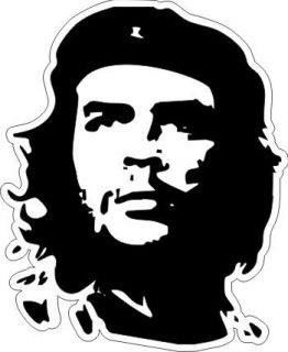 Che Guevara Portrait Black White Sticker 4 25 x 3 5