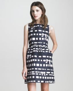 dress available in black $ 695 00 red valentino bow print faille dress