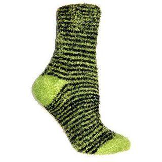 Foot Traffic Warm Womens Fuzzy Socks Super Soft   Black