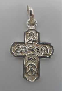 925 Sterling Silver Small Holy Cross Pendant Detailed and Handmade