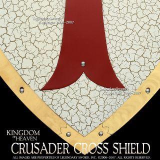 Medieval Crusader Templar Red Cross Shield Masonic