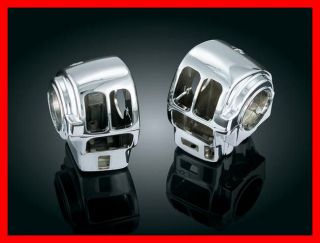 KURYAKYN CHROME SWITCH HOUSINGS COVERS SET HARLEY TOURING WITH CRUISE