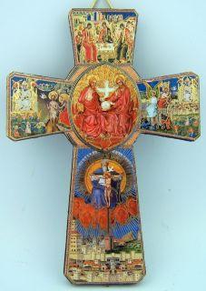 Needzo Bulk 5 Holy Trinity Guardian Angel Wooden Hanging Wall Cross