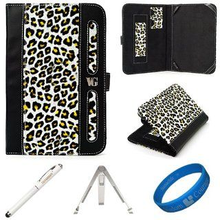 Brown Leopard Executive Leather Folio Case Cover for