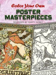 New Color Your Own Poster Masterpieces Coloring Book