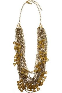 Oscar de la Renta 24 karat gold plated multi chain necklace   65% Off