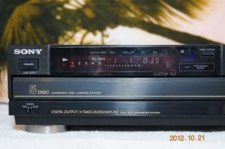 Sony CDPC7ESD Home CD Player 5 Disc ES Series 1988 Vintage Perfect
