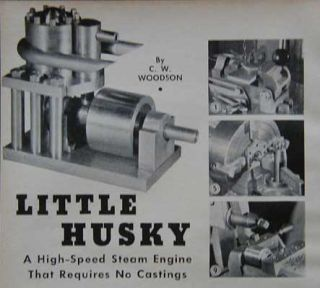 Model Steam Engine Hi Speed No Casting Lathe How to Build Plans