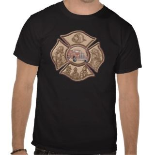 Firefighter Maltese Cross T Shirt